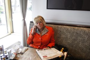 Jane started making calls and doing business right there at the breakfast table - why not? It wasn't a holiday, just the inauguration of the 44th president of the United States!