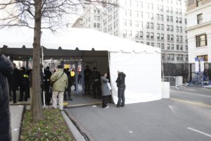 Many streets had tents like these that one had to pass through.