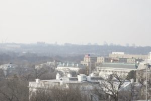This is the White House roof top where the cavalcade passed by.