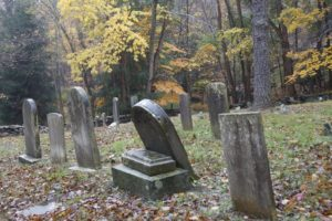 This little cemetery was for the Miller family.  According to records, there are 59 graves marked with field stones, with the oldest one dating to 1804.