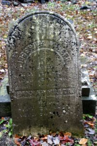 This headstone is shared by Joseph H. Miller and Hannah Miller, who died in the 1800's.