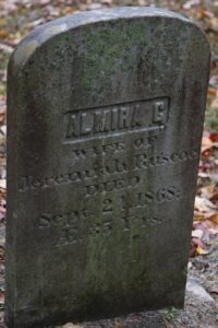 Almira, wife of Jeremiah Ruscoe, was only 35 years old.