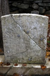 Someone has tried to save this headstone - it's bolted together.