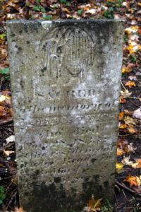 Cloe Bostwick died in 1833.  Her stone says she was a resident of Bedford.