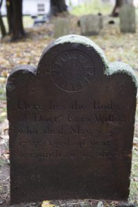 Doct. Ezra Wilson was 41 when he died in 1787.