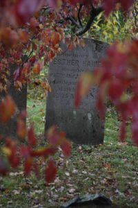 Ester Haine departed this life in 1854 at 75 years of age.