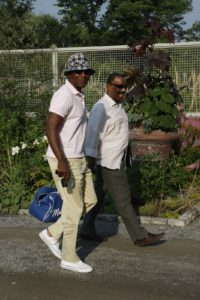 Orlando Reece - SVP, Broadcast Sales and Bernie Young - EVP and General Manager, Broadcast enjoying a stroll near my vegetable garden.