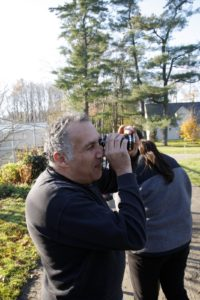 Camera man, Akram Abi-Hanna checks for lighting.