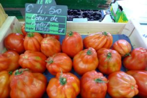 Gorgeous tomatoes of all types come to market.