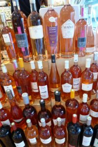 There was a wide variety of rosé wine from the region.