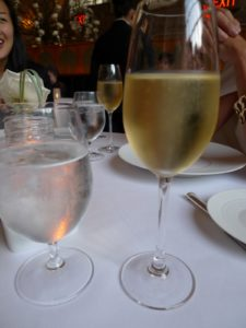 The glassware is simply elegant and we all enjoyed having the sommelier pour us different wines for each course.