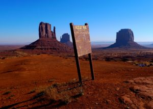 Monument Valley, Utah, morning, hiking on Wildcat Trail - taken with Lumix LX3