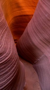 Antelope Canyon, AZ , lower canyon - taken with Lumix LX3