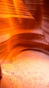 Antelope Canyon, mid afternoon, lower canyon - taken with Lumix LX3