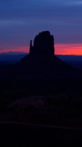 Monument Valley, Utah, sunrise, East Mitten - taken with Lumix LX3
