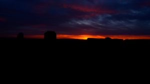 Monument Valley, Utah, sunrise, East Mittens - taken with Lumix LX3
