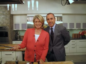 Here I am in the Today show kitchen with the always friendly Matt Lauer.