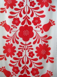 Steffi Lynen's screenprinted fabric panel