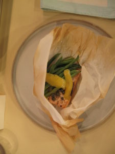 This recipe is wrapped in parchment and baked - so flavorful and tender.