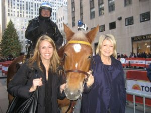 Officer John Riley and his beautiful horse, Trooper stopped to say hello to Mary Curren and me on our way into the Today show.