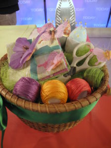 This basket of sewing items would be a perfect Easter gift or a Mother's Day gift, along with a copy of the book.