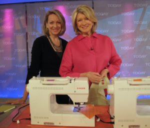 Becky Hanson, Director of Education for Singer Sewing Company joined me on the Today Show, where we used the SINGER Confidence (model 7470) Sewing Machine.  The machine is sold at participating retailers nationwide.  Visit singerco.com for product information.