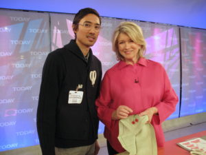 Here I am with Nick Anderson, who used to work with us at Martha Stewart Living.