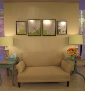 On the set of the Today Show, I demonstrated easy ways of how to incorporate color into a room.
