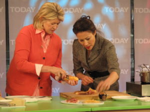 Here I am showing how to shave the melon with a vegetable peeler for extra thin slices.