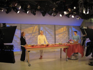 Here I am with Meredith Vieira and Ann Curry right before airtime.