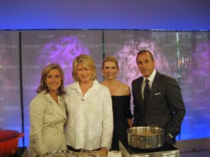Meredith Vieira, me, Alexis, and Matt Lauer