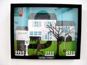 Valerie Courtney - shadowbox of her childhood home - Dover Street