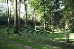 The Scott Arboretum's famous amphitheater where the conference attendees had lunch