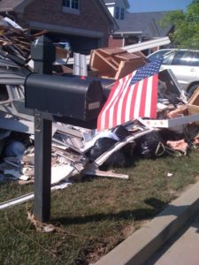 American pride amongst the destruction