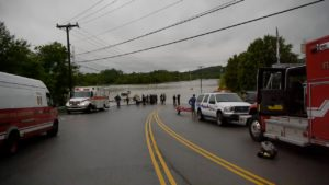 Residents of Bellevue Retirement Home needed to be rescued by boat.