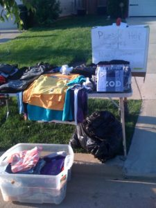 One more fortunate neighbor cleaned out closets and drawers and donated items of clothing.