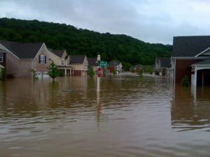 On Sunday, May 2nd, this is what it looked like one block from Liesl and Kevin's home.