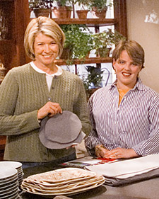 Answering a live Ask Martha question about how to store china. (OAD: 2/10/1999)