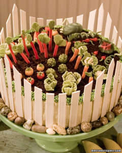 Michelle Bommarito shows me how to makes a fanciful  spring garden cake.  (OAD: 4/11/2000)