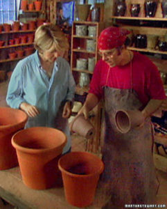 Visiting potter Guy Wolff and sharing his process for creating clay pots. (OAD: 6/28/2000)