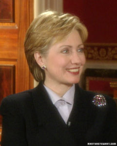 I was thrilled to interview Hillary Clinton at the White House. (OAD: 2/15/2001)