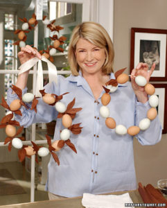 Demonstrating how to make a charming Easter egg wreath. (OAD: 3/29/2002)