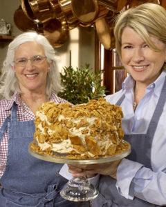 Mary Risley, founder of Tante Marie's Cooking School, shares a secret recipe for a unqiue coffee crunch cake. (OAD: 4/7/2003)
