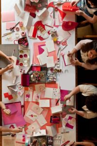 This gathering is called Handmade Crafternoon, a monthly salon held at the main branch of the New York Public Library.