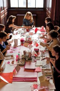 This story is about a group of talented crafters who gathered together to create amazing handmade valentines.