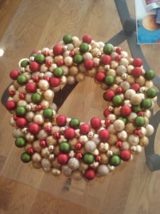 Jessica Gwen Turner from Chicago, IL was inspired by a project featured on my website to make this wreath.
