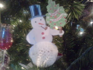Lauren DeBellis from Long Island, NY was inspired by my December 2006 issue of Living to make this snowman ornament.