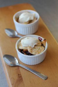 From Everyday Food - apple and cranberry pandowdy (dessert)