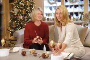 Claire Danes and I had fun creating elegant acorn ornaments from velvet and hollowed out eggs.  http://www.marthastewart.com/article/egg-corn-decorations Photo: David M. Russell/MSLO