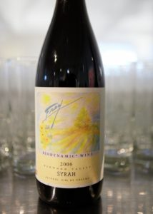 The Syrah wine donated by Frey Vineyards.